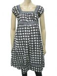 Wholesale Womens Ex Chainstore Long Dress Black - Polka Dot
